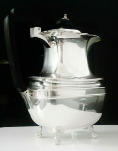 Silver Hot Water Pot Sterling Hallmarked 1917 George Howson