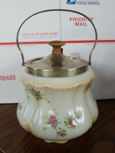 Antique English Biscuit Jar Made In England