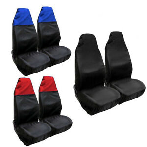 1 Pair Universal Car Front Seat Cover Waterproof Cushion Protector Full Surround