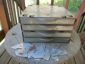 Vintage Equipto Parts Cabinet Industrial Green With 28 Dividers