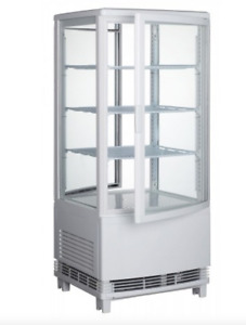 New Countertop Display Cooler White Winco Crd 1 9966 Nsf Refrigerator Case Cold