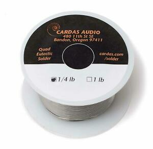 Cardas Soldering Wire Quad Eutectic Silver Solder With Rosin Flux 1 4 Lbs 11