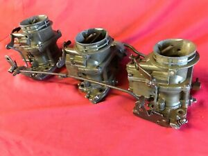 3 Stromberg Tri Power Vintage Carburetors Carb Deuces Street Racer Hot Rod