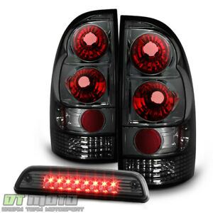 For Smoked 2005 2015 Toyota Tacoma Tail Lights Lamps led 3rd Brake Light 05 15