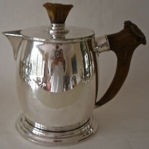 Large American Redlich Sterling Antler Tankard Pitcher Retailed By T B Starr