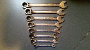 New Craftsman 8 Pc Standard Reversible Ratcheting Wrench Set In Vinyl Pouch Inch