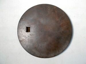 Antique Cast Iron Wood Stove Cover Lid Marked 8 0s 98 104