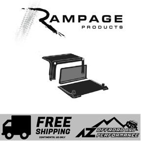 Rampage Full Cab Enclosure Tonneau Cover 97 02 Jeep Wrangler Tj 994015 Black