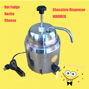 New 110v 220v Hot Nacho Fudge Dispenser Warmer Chocolate Cheese Heating Machine