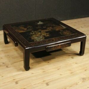 Table Low Furniture Living Room Small Chinese Wooden Lacquered Antique Style 900
