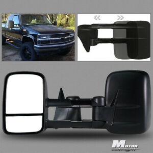 Pair L r Tow Mirrors For 1988 1998 Chevy Gmc C k Truck Adjust Manual Extended