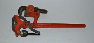 Ridgid Super Two 2 Compound Leverage Chain Pipe Wrench Vise Usa Great Shape