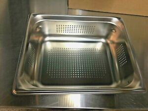 Vollrath Half size Stainless Steel Perforated Steam Table Pan 4 Deep