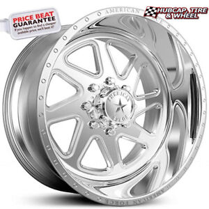American Force Sight Ss8 Polished 22 x14 Truck Wheels Rims 8 Lug set Of 4