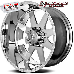 American Force Independence Ss8 Polished 20 x12 Wheels Rims 8 Lug set Of 4 New