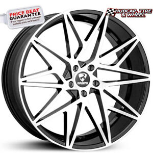 Ravetti Model 5 Black With Machined Face 22 X8 5 Custom Wheels Rims Set Of 4