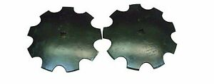 18 Notched Disc Harrow Blades Scalloped Heavy Duty 1 Or 1 1 8 Sq lot Of 2