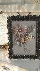Vintage Jewelry Bouquet Picture Shabby Chic