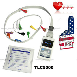 24h Heart Rate Holter Monitor Ecg System 12 lead Pacemaker Arrhythmia Analyzer