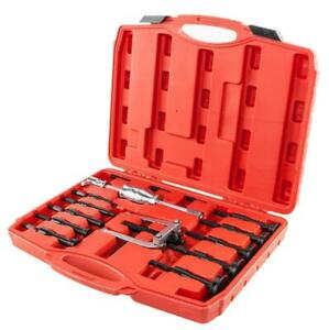 16pcs Heavy Duty Inner Bearing Extractor Puller Set Bushes Puller W Red Case