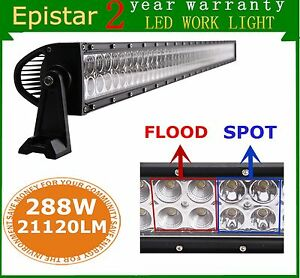 50 Inch 288w Led Light Bar Combo Offroad 4x4wd Fog Lamp Ute Boat Driving 48 52
