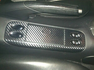 Carbon Fiber Finish Ashtray Panel Cover Fits Porsche 911 996 Boxster 986