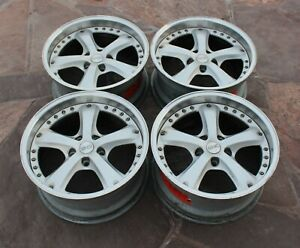 Rare Italian Oz Vela 2 18inch 8 5j Et 20 2piece Split Wheels 5x120 Bbs Rs Lm Bmw
