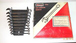 Snap on 9 Pc Short Combination Wrench Set Oexs 709 5 16 To 3 4