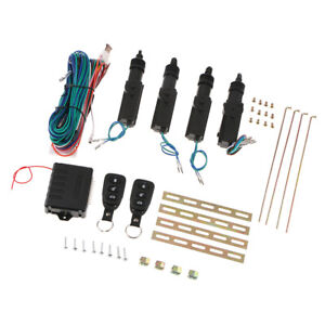 Remote Central Door Lock Kit Locking Keyless Entry System W 2 Controllers