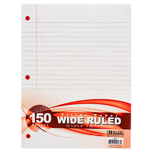 New 306757 Filler Paper 150ct Wide Rule bazic 24 pack Paper Cheap Wholesale