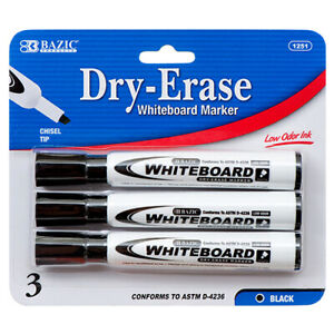 New 358940 Marker 3pc Whiteboard 1251 24 pack School Supplies Cheap