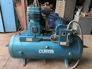 Fs curtis C89a 15 Hp 120 Gallons 2 Stage Air Compressor 55cfm