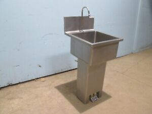 win holt Commercial nsf S s Free Standing Hand Wash Sink With Foot Control