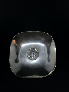 Antique Sterling Silver Dish With 1904 German Silver Coin