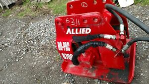 Allied 8700 Hydraulic Plate Compactor Tamper Post Pounder Excavator Backhoe