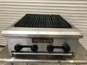 24 Radiant Charbroiler Gas Grill Countertop American Range Aerb 24 1598