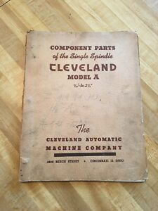 Cleveland Single Spindle Automatic Model A Manual
