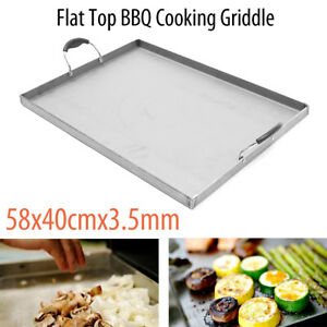 Stainless Steel Griddle Flat Top Cooking Grill Bbq Heat Distribution Stoves 1