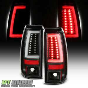 1999 2002 Chevy Silverado 99 06 Gmc Sierra Black Edition Led Tube Tail Lights