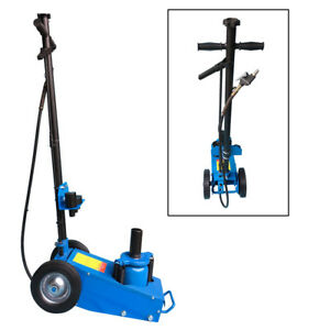 22 Ton Air Hydraulic Bottle Floor Jack Work Shop Low Profile Lift Tool Blue