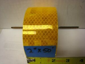 3m 983 71 Amber Yellow Gold Reflective Conspicuity Tape 2 X 50 Ft Lined
