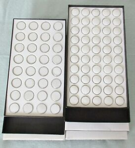 New 5 Stackable Black Gem Trays With Gem Jars free Shipping