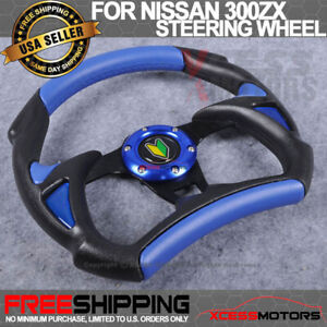 Fit 80 01 Honda Prelude Steering Wheel Battle Type 320mm Whole Black Blue