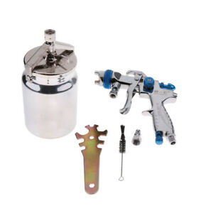 Mini Spray Gun Suction Feed Hvlp Touch Up Gun 1 7mm Nozzle 1000ml Pot