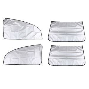 2 Pairs Car Sun Insulation Curtains Uv Protection Magnetic Retractable Cover
