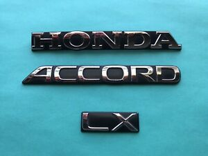 90 91 92 93 Honda Accord Lx Rear Emblem Logo Badge Symbol Set Used Oem