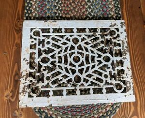 Ornate Vintage Cast Iron Furnace Vent Grate