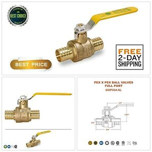 Full Port Pex Ball Valve 3 4 Inch Forged Brass Lead Free