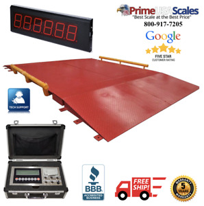 Industrial 10 X 20 Ntep Legal For Trade Axle Truck Cargo Scale With 60 000 Lbs