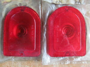 1964 Amc Rambler Ambassador Classic Station Wagon Nos Tail Light Lenses